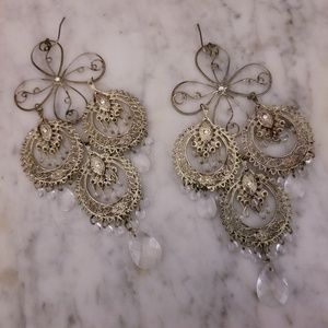 Large Chandelier Drop Earrings